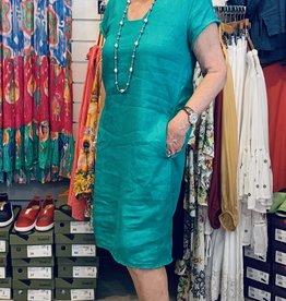 Foil Linen Fringe Dress
