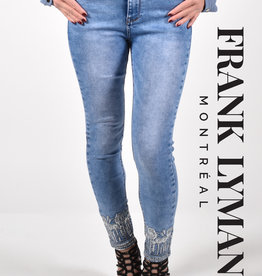 Frank Lyman Jeans with Embroidered Bottom