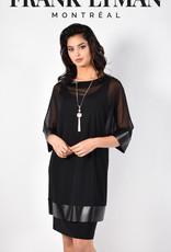 Frank Lyman  Black Dress with Sheer Overlay