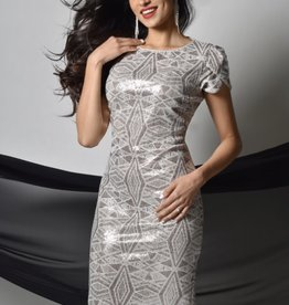 Frank Lyman Champagne Fitted Dress