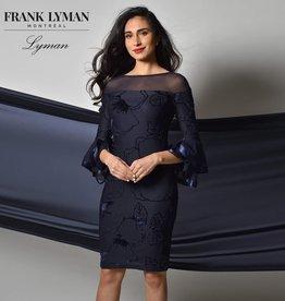 Frank Lyman Navy Fitted Dress