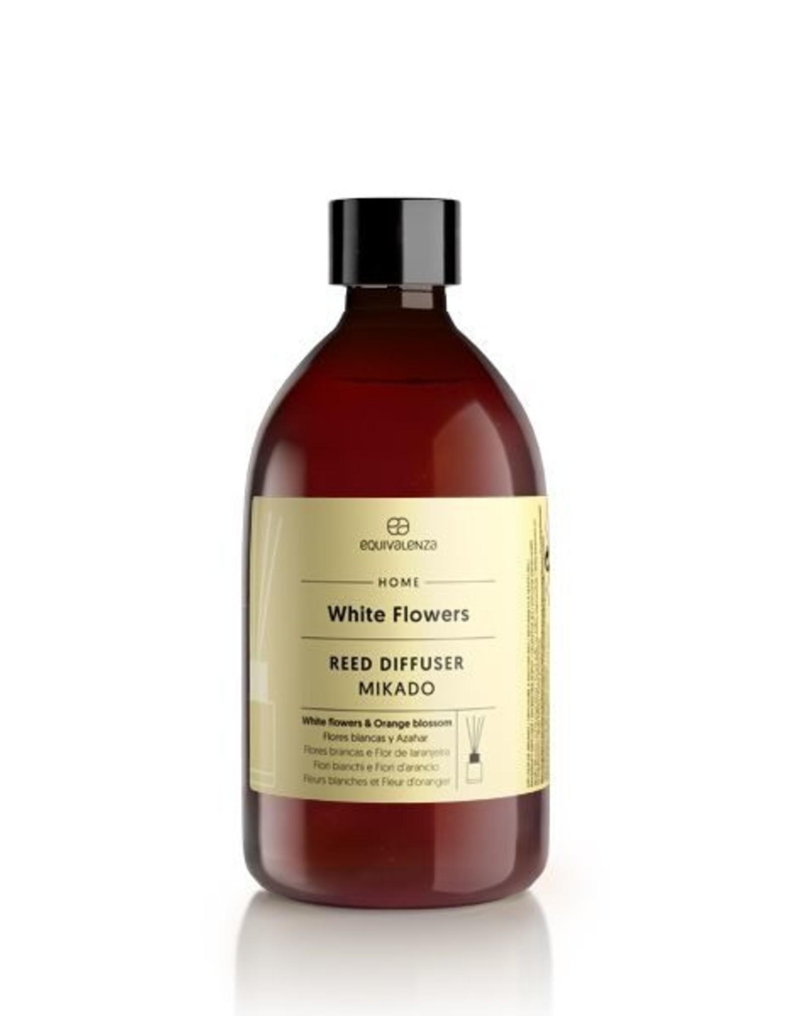 Equivalenza Recharge pour Diffuseurs à Bâtons – Fleurs Blanches (fleur d'oranger et fleurs blanches)