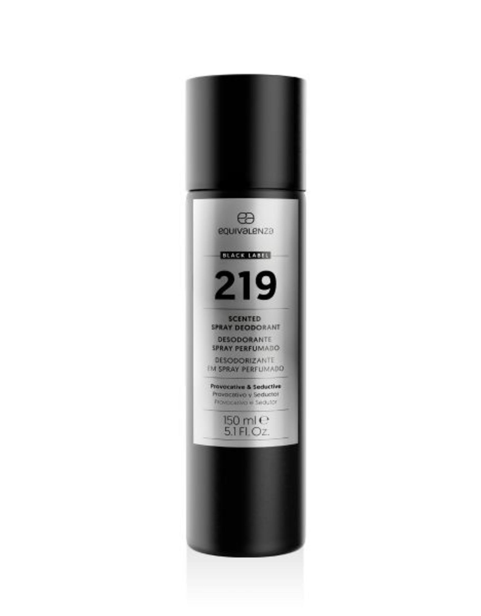 Equivalenza Black Label Deodorant 219