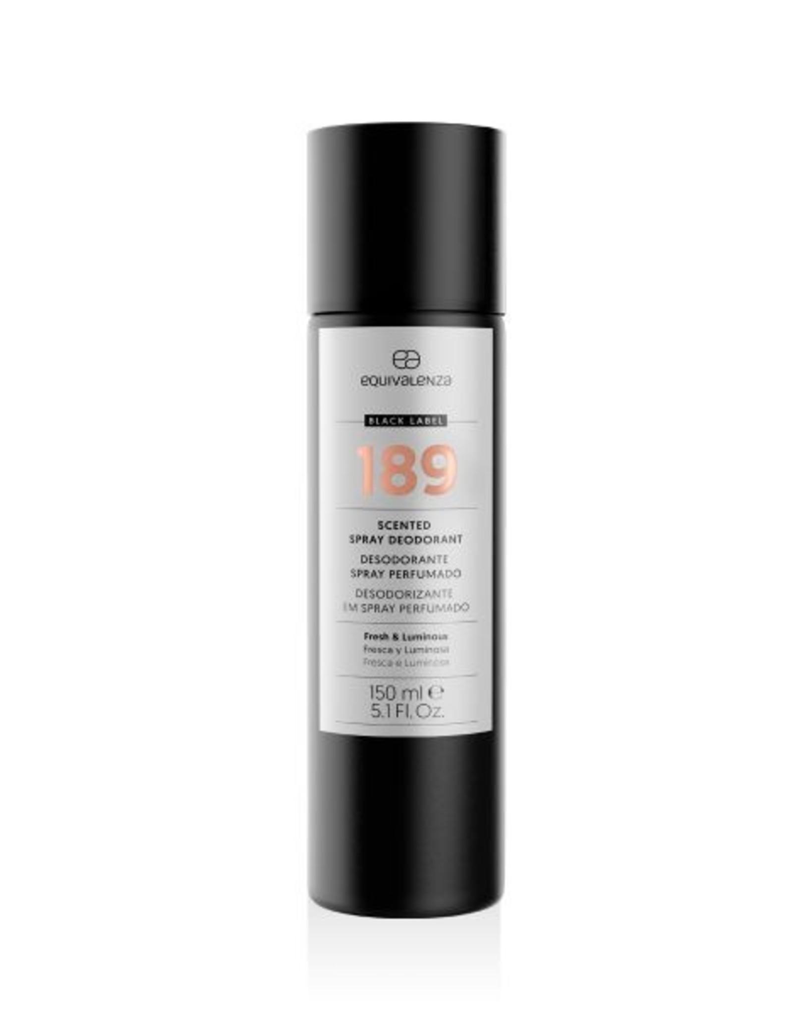 Equivalenza Black Label Deodorant 189