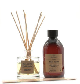 Equivalenza BUNDLE - Mikado & Refill - Black Vanilla (black vanilla and leather)