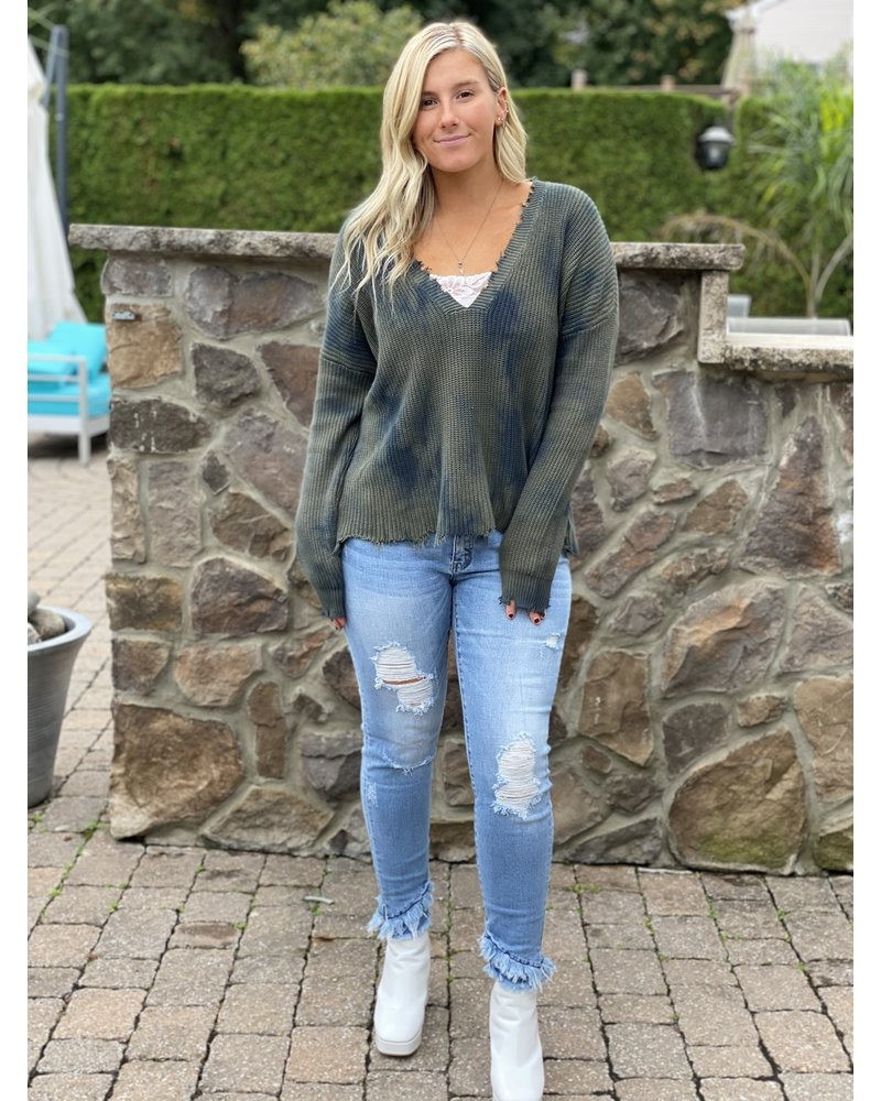 KanCan Light Ripped Flare Jeans