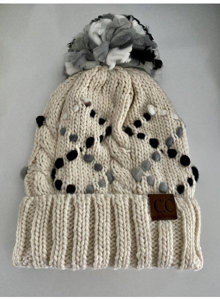 C.C. Beanie Chunky Knit Pom Beanie