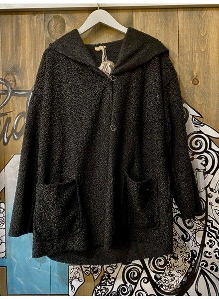 Hem & Thread Buckle Front Sherpa Coat