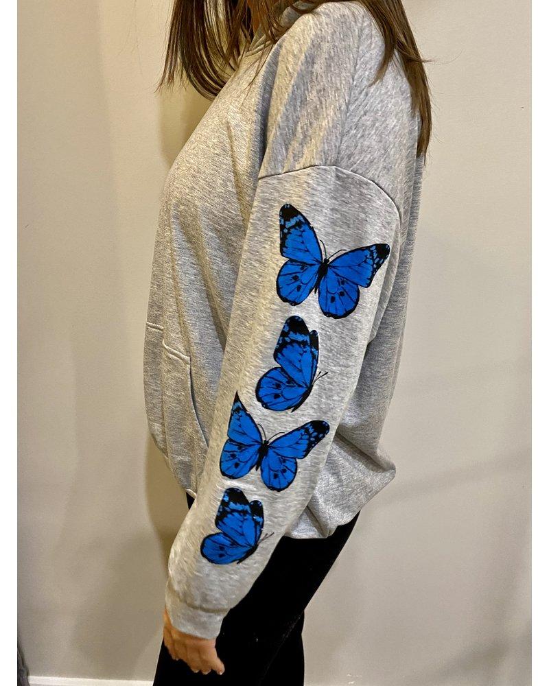 Blue Buttercup Butterfly Hoodie