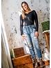 KanCan Leopard Detail Jeans
