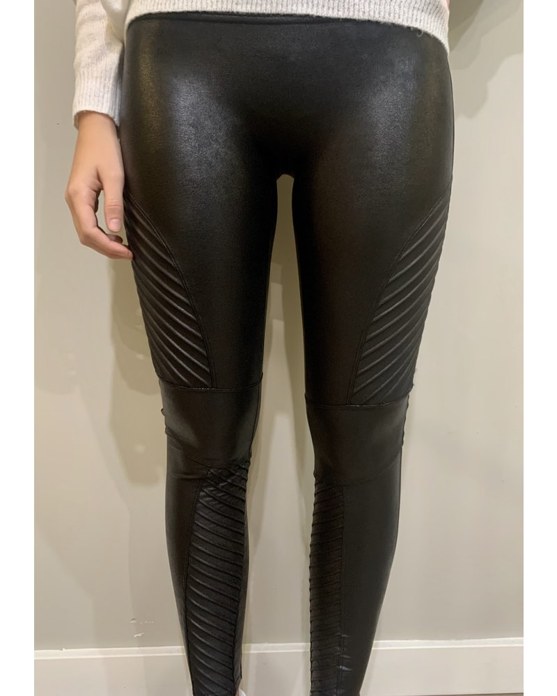Spanx Faux Leather Detail Moto Leggings