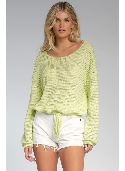 Elan Open Back Crochet Top