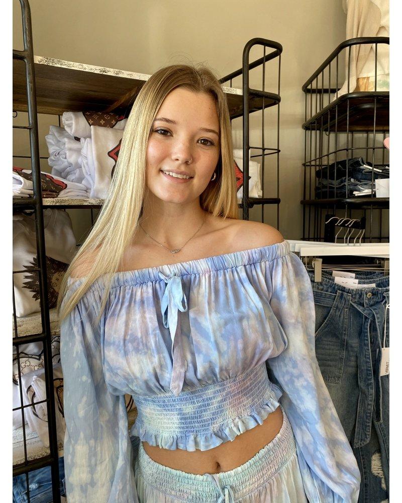Surf Gypsy Lavender Tie Dye Tulum Top