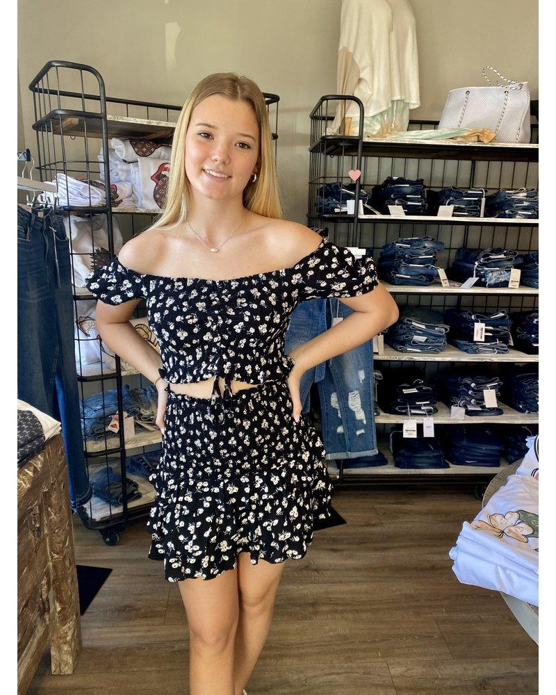 Ocean Drive Ditsy Floral Ruffle Skirt