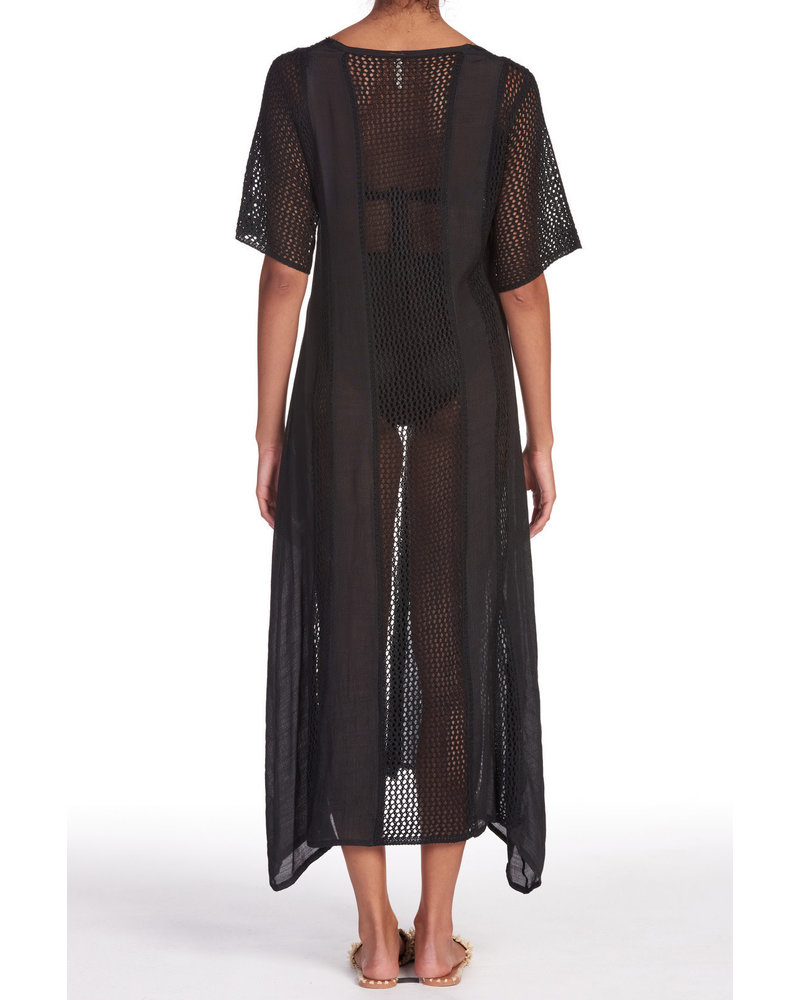 Elan Onyx Crochet Kimono