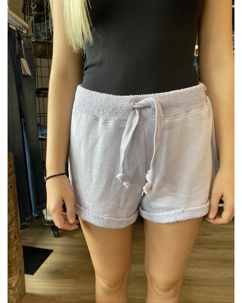 Ocean Drive Dusty Lilac Terry Relaxed Shorts