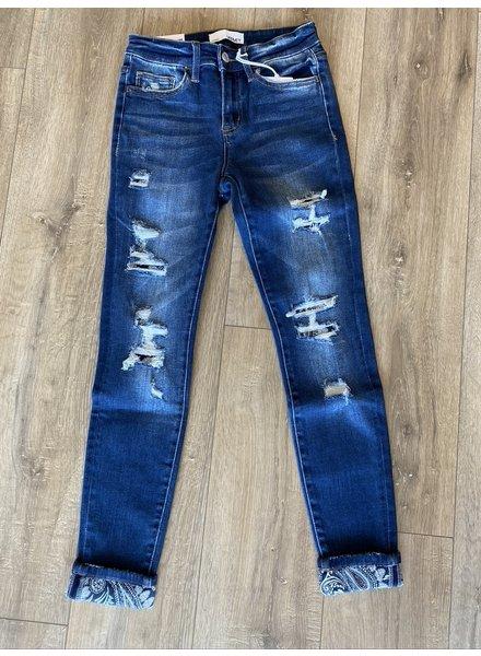 Vervet Bluebird Paisley Jeans