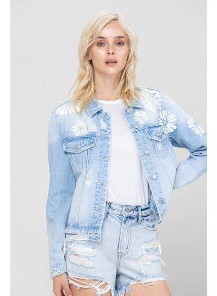 Vervet Flower Power Denim Jacket