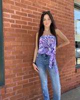 Ariella Purple Garden Tube Top