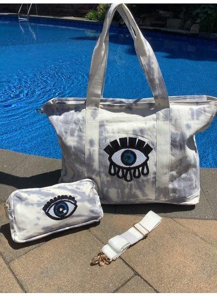 Peace Love Fashion Sequin Evil Eye Bag