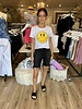 Prince Peter Collection Distressed Smiley Face Top
