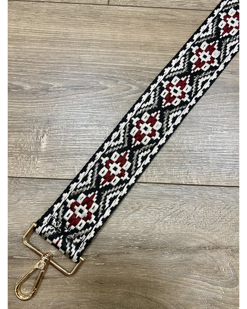 Ahdorned Embroidered Aztec Straps