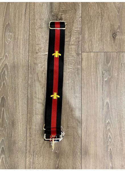 Ahdorned Bee Striped Bag Strap