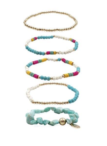 Kinsley Armelle Stacked Baja Bracelets