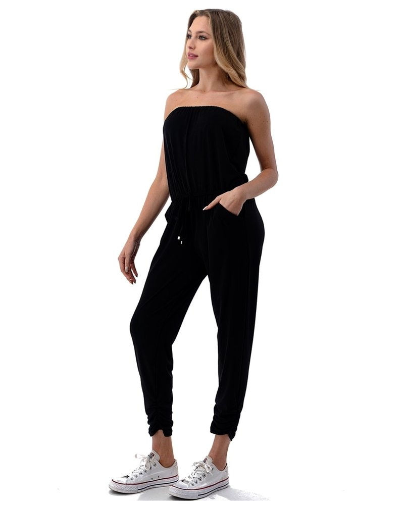 Ariella Rouched Ankle Jumpsuit