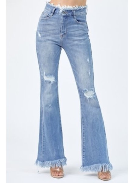 Risen Jagged Edge Jeans