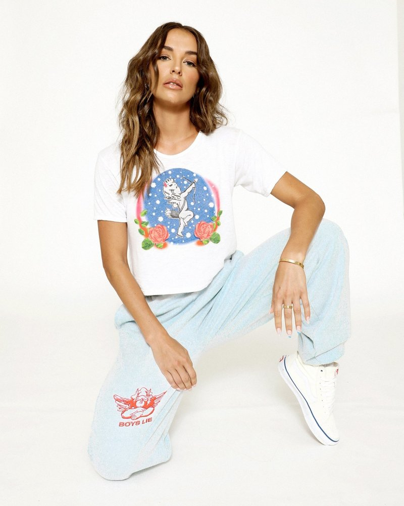 Boys Lie Space Cadet Cropped Baby Tee