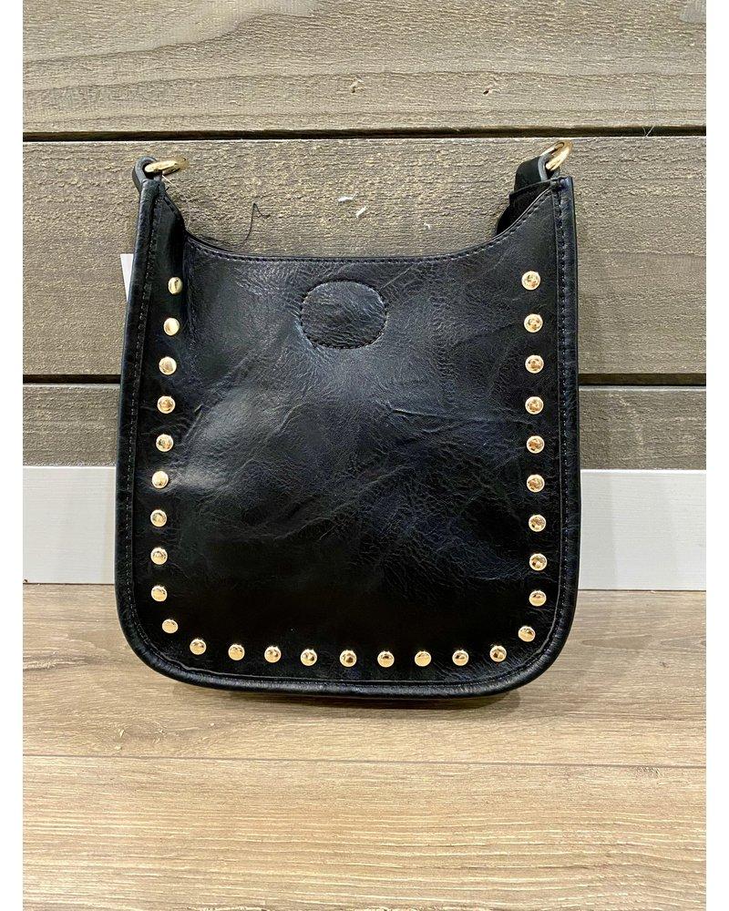 Ahdorned Mini Studded Messenger Bag