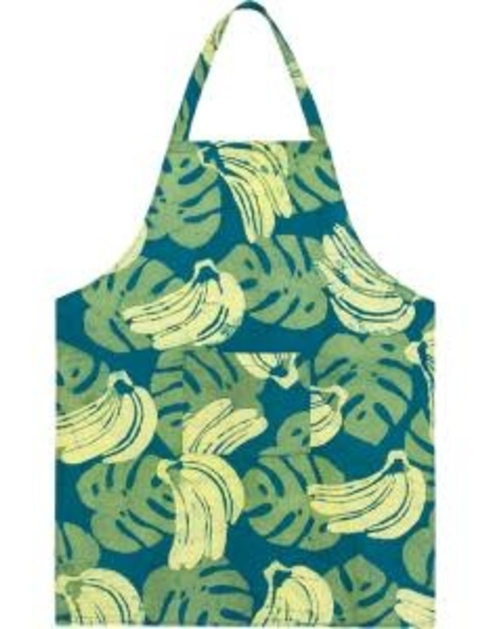 Global Mamas Apron Adult Bananas Green