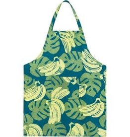 Apron Adult Bananas Green