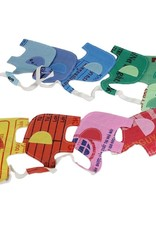 Recycled Banner Multicolor Elephants