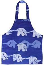 Global Mamas Apron Kids Elephant Blue