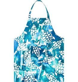 Apron Adult Fishy Turtles Teal