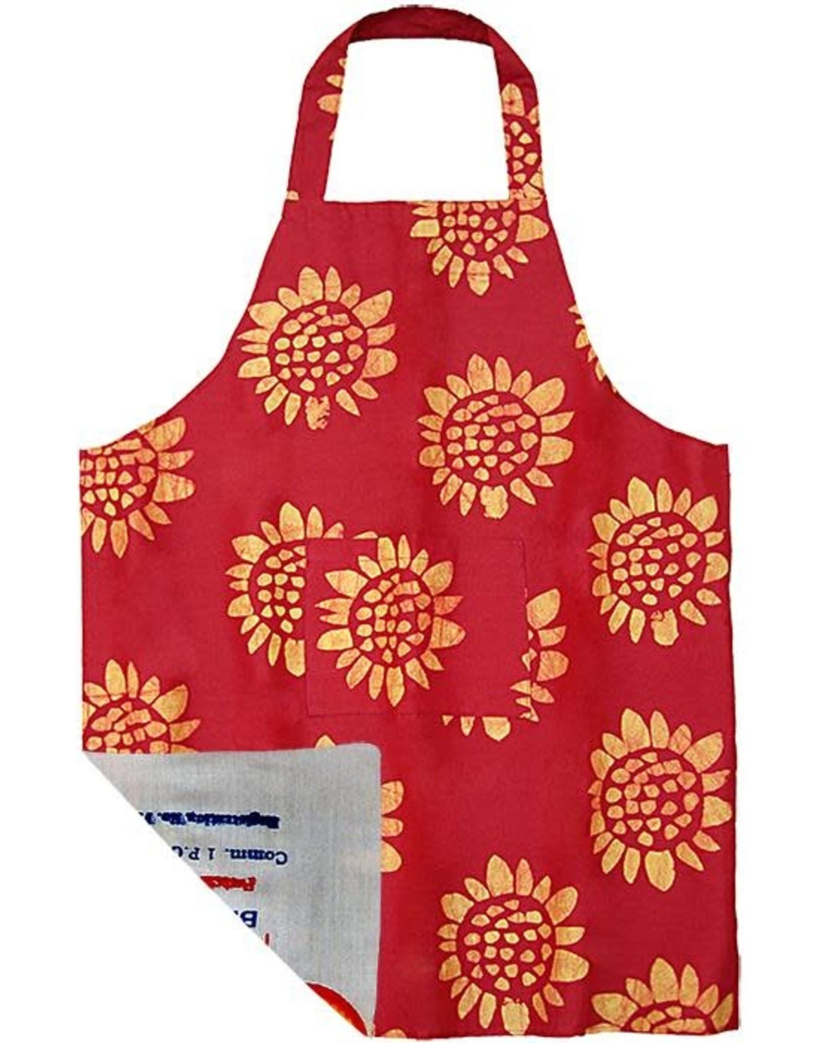Apron - Adult Sunflower Red
