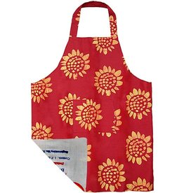 Global Mamas Apron - Adult Sunflower Red