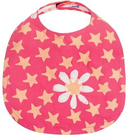 Global Mamas Babies Bib Daisy Star Papaya