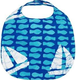Global Mamas Babies Bib Sailing Blue
