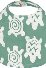 Global Mamas Babies Bib Turtles Sage