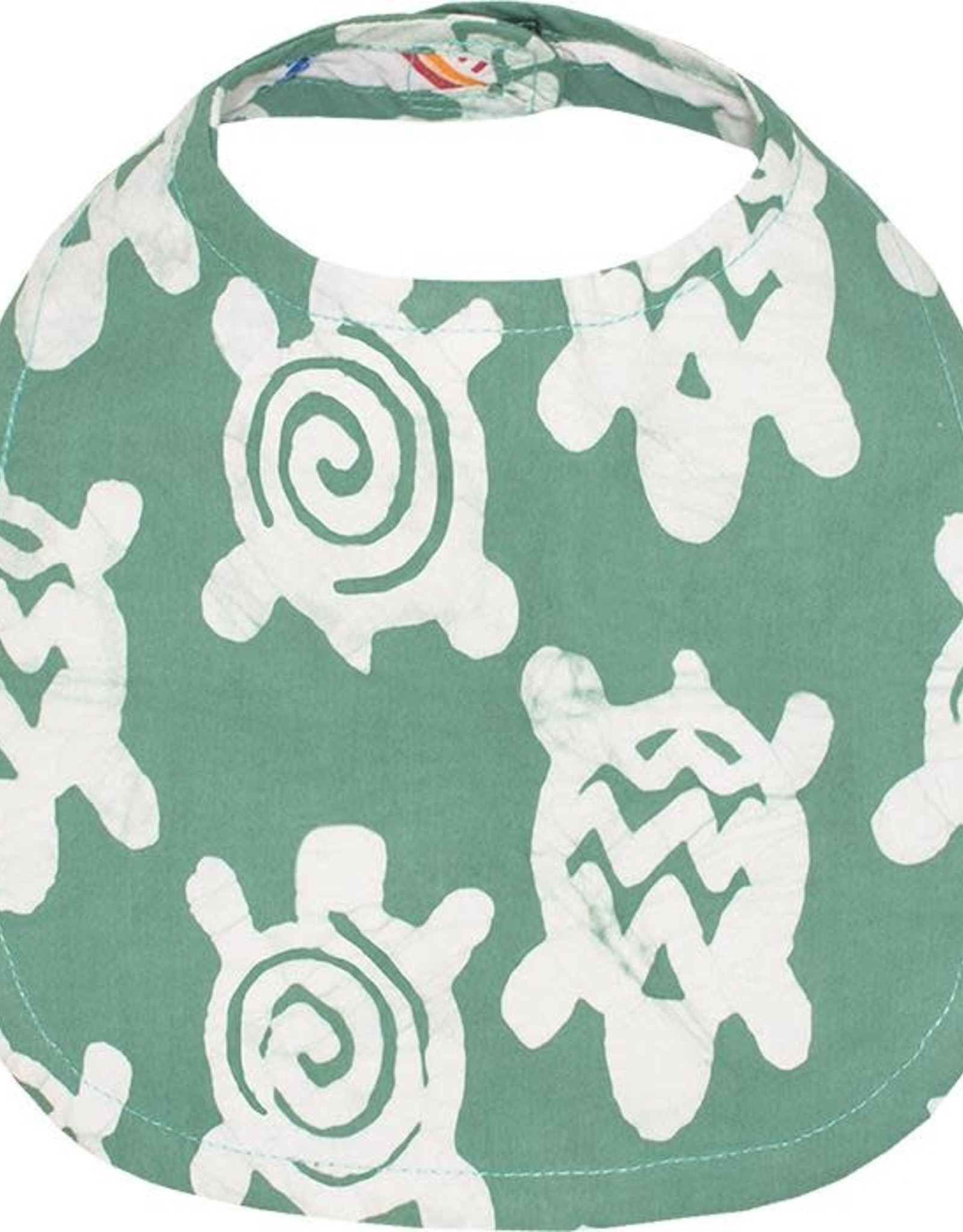 Babies Bib Turtles Sage