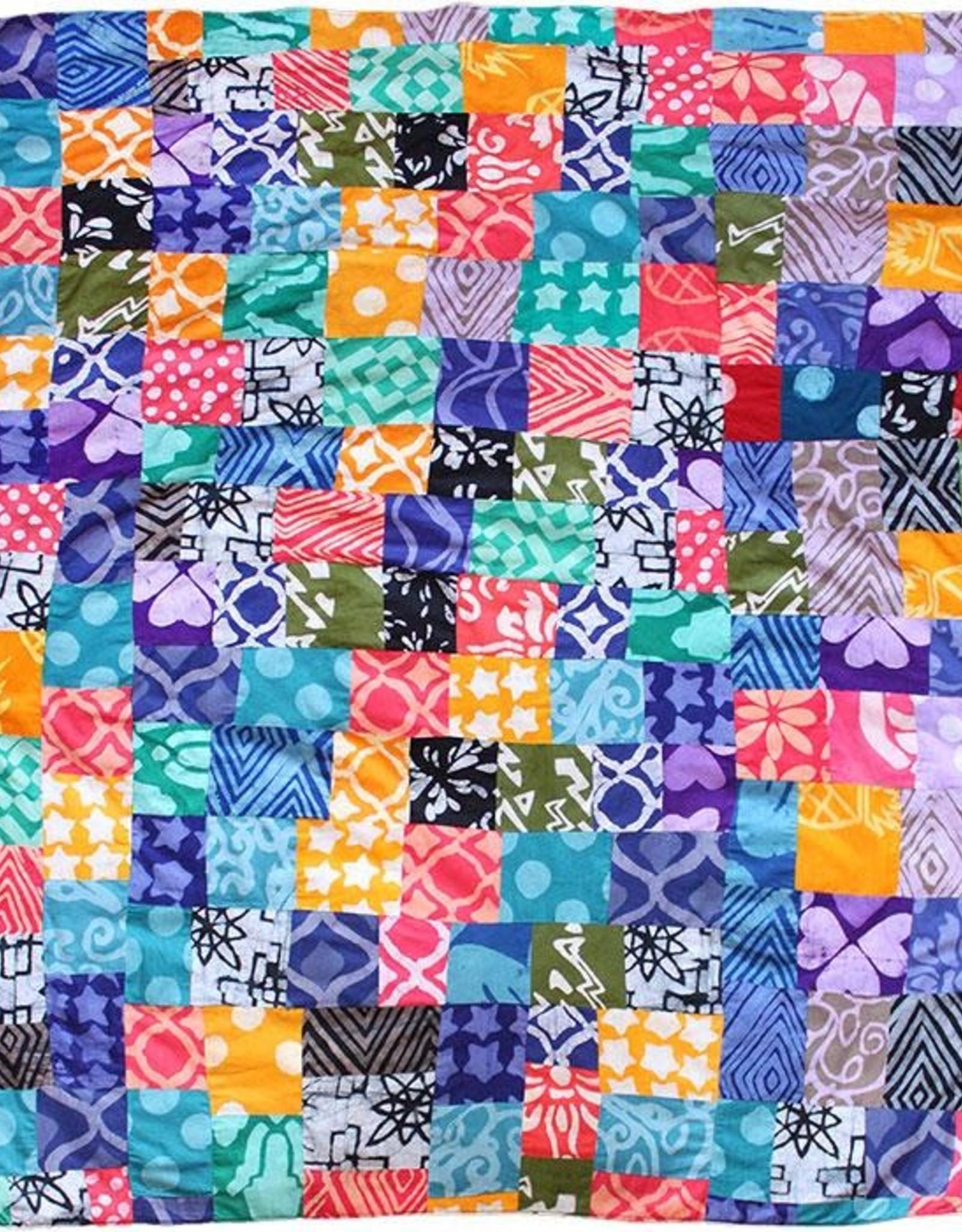 Global Mamas Batik Patchwork Throw
