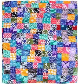 Global Mamas Batik Patchwork Throw