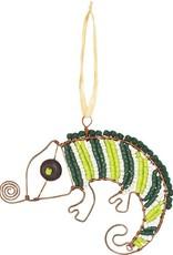 Beaded Chameleon Ornament
