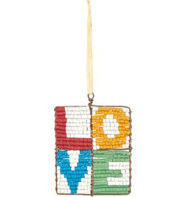 Beaded Mosaic Love Ornament