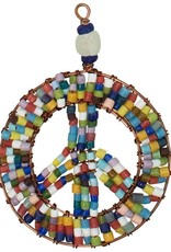 Beaded Peace Sign Ornament