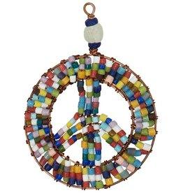 Global Mamas Beaded Peace Sign Ornament