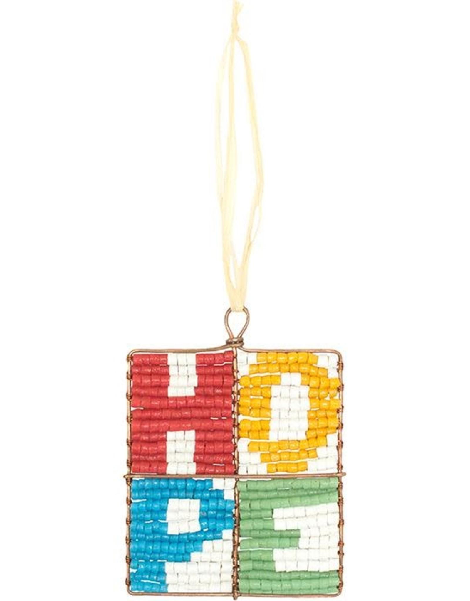 Global Mamas Beaded Mosaic Hope Ornament
